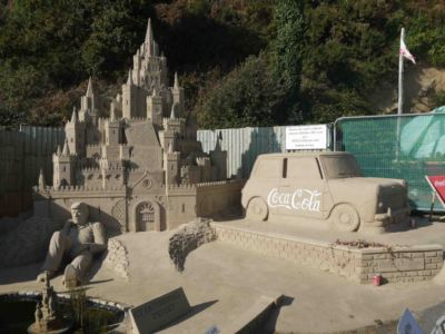 037 Sand Sculpture At St Catherine\'s Bay