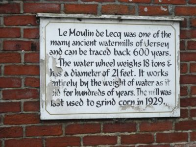 043 Le Moulin De Lecq Plaque